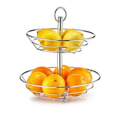 Zeller сервировочная подставка Корзина фрукты , 2 Уровни сталь Хром
