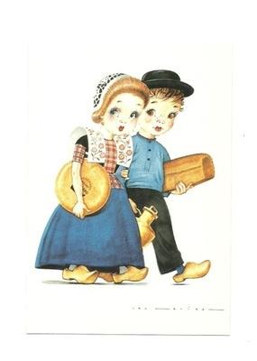 П / я.- Голландские народные костюмы; детей с сыром