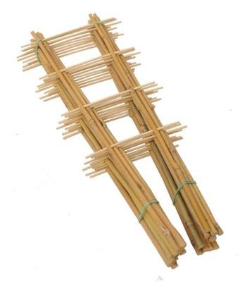 Drabinka bambusowa 120 cm /10szt pergola do roślin