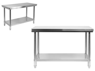 Pracovný stôl, stavebný podstavec -  TABULKA WORKSHOP YATO 140x70cm NEREZOVÝ OCEL
