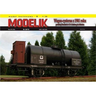 Modelik 26/10 - KPEV BEUCHELT wagon cysterna 1:25