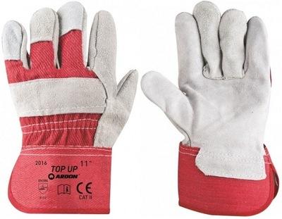 Pracovné rukavice Posilnené Kožené 12Par Hore '11