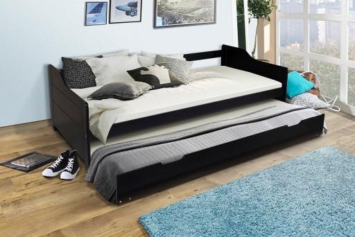 łóżko Podwójne Rozsuwane Drewno Bufalo