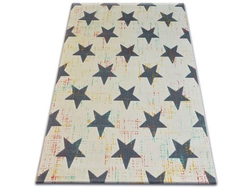 Dywany łuszczów Scandi 160x230 Gwiazdki Krem B242