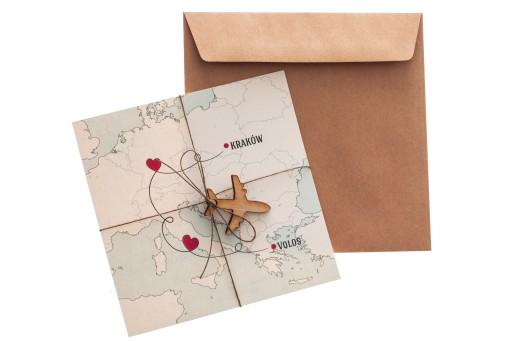 Podróżnicze Zaproszenia ślubne Kolekcja Travel Z33 5968038948