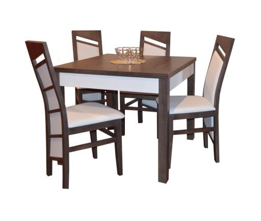 Stół Rozkładany 90 X 90120 4 Krzesła Promocja 7949779366 Allegropl