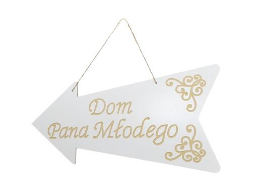 Drogowskaz ślub Dom Pana Młodego Duży 50 Cm 7450610797 Allegropl