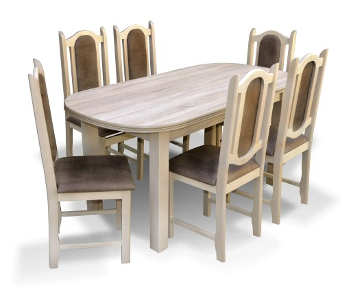 Stół Z Krzesłami Dąb Sonoma Producent Tanio
