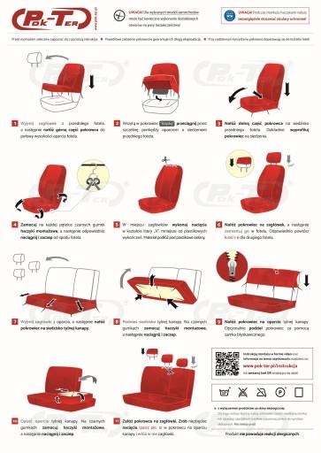 CITROEN BERLINGO NEMO / MOCNE pokrowce na fotele