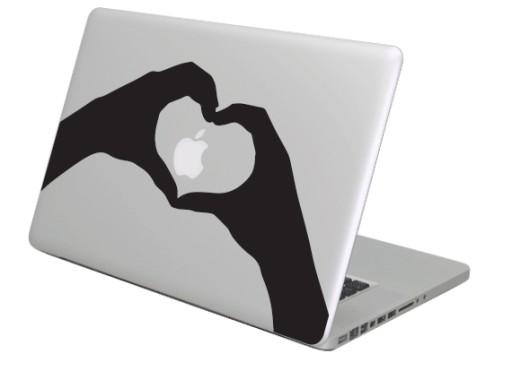 Naklejka na Maka, MacBooka Apple - Love Hands 2