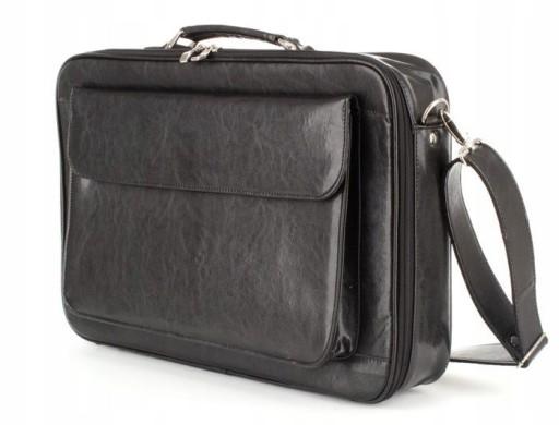 8070c5bc34913 Skórzana torba teczka aktówka na laptopa, czarna 7635922492 - Allegro.pl -  Więcej niż aukcje.