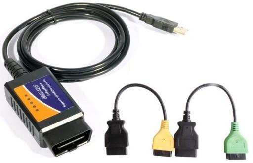ELM 327 + adaptery FIAT ALFA LANCIA MultiECUscan