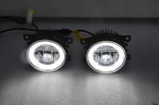 2w1 światła Dzienne Okrągłe Led Halogeny Duolight