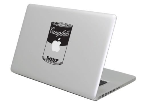 Naklejka na laptopa Apple MacBook zupa Campbell