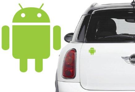 Naklejka winyl. na samochód/samochodowa - android