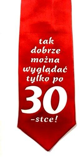 Krawat 30 Tka Urodziny śmieszny Prezent Dla Faceta 7167488504