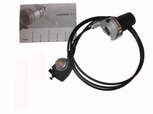 Manetka SRAM S7 z clipboxem ; kompatybilna z SACHS