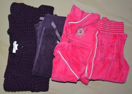 H&M, dresy, sweterek, zestaw
