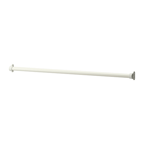 IKEA KOMPLEMENT Drążek, biały 100cm