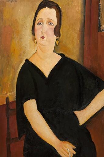 Obraz Woman with Cigarette Modigliani 60x40