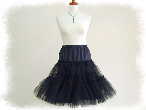 Halka tiul czarna petticoat 60 cm lata 50-te HIT