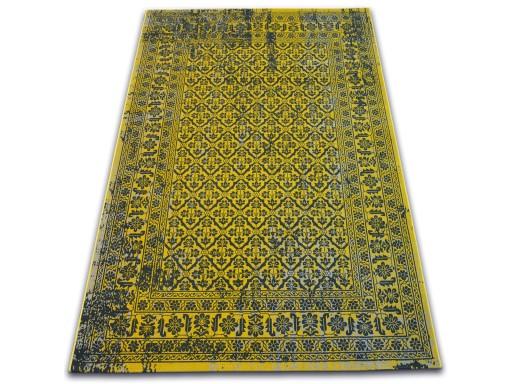 DYWAN VINTAGE 80x150 KWIATY żółty #B831