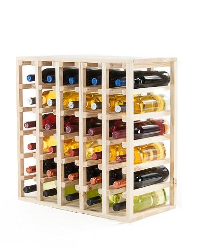 Bardzo dobra Regał na wino drewniany stojak półka RW-6-6 surowy 6949754421 VH12