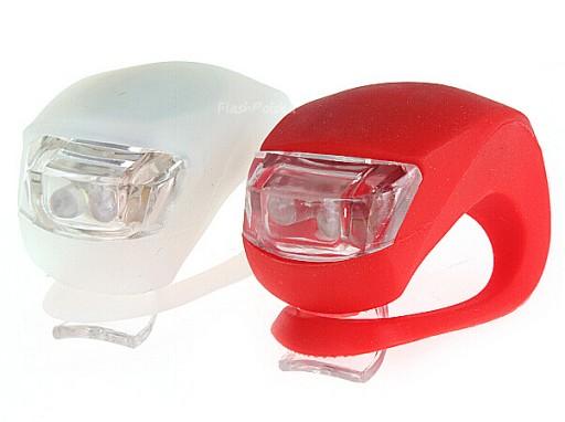 Oświetlenie Lampki Rowerowe Silikonowe Led 2 Szt