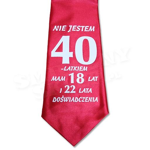 Krawat 40 Tka Urodziny śmieszny Prezent Dla Faceta 7462483731