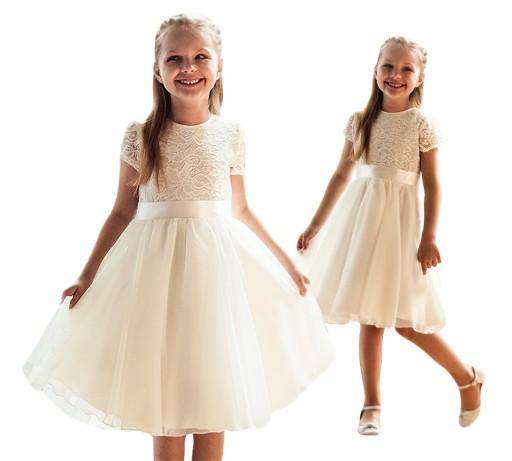 38669ebfc3 Sukienka dla dziewczynki na wesele bal druhna 122 7887252310 ...