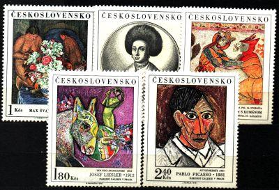 Czechosłowacja. Mi 2105-09 ** -  Malarstwo