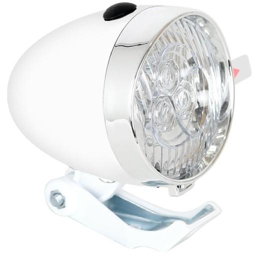 Lampa Rowerowa Na Rower Led Baterie Retro Biała 7599937400 Allegro Pl