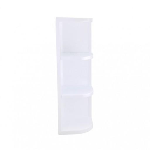 Półka Narożna łazienkowa Plastikowa Biała 3 Półki