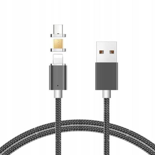 KABEL MAGNETYCZNY MICRO USB ŁADOWARKA SZYBKI