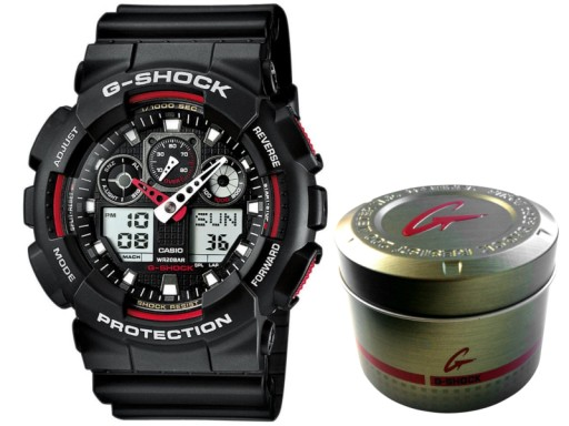 CASIO G-Shock GA-100-1A4ER Gwar.3+3L, serwis PL