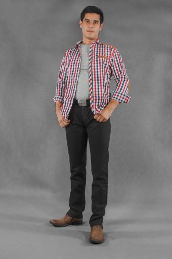 Duże Spodnie Męskie Bawełniane 844 r 126 cm czarne