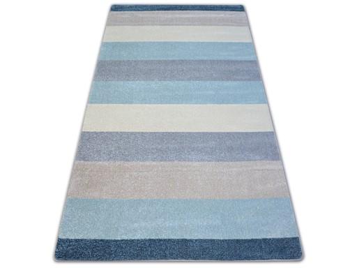 DYWAN NR 140x190 PASY krem szary niebieski #A138