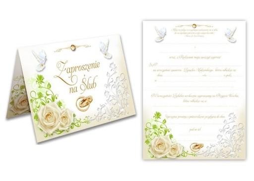 Zaproszenia ślubne Na ślub Wesele 10szt Gołąbki 7225014581 Allegropl
