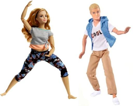 Barbie lalka gimnastyczka + Kevin zginane ręce i..