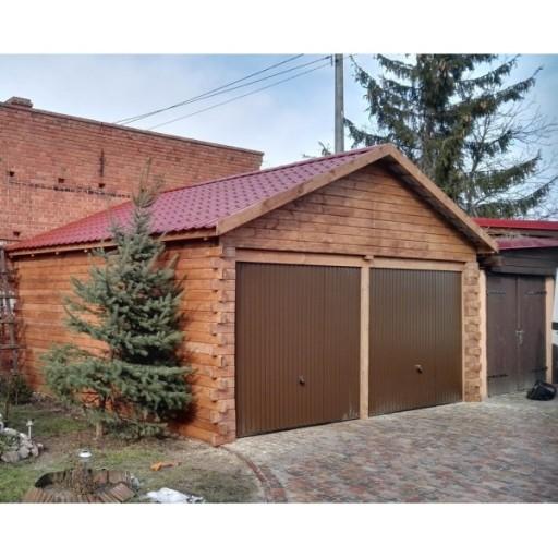 Kompletny Garaż Drewniany Z Bali Dostawa Gratis 7603217341 Allegropl