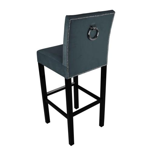 Hoker Z Kołatką Krzesło Barowe Pikowany Na Wymiar