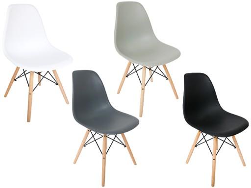Krzesło Mediolan Nowoczesne Białe Krzesła Jadalnia