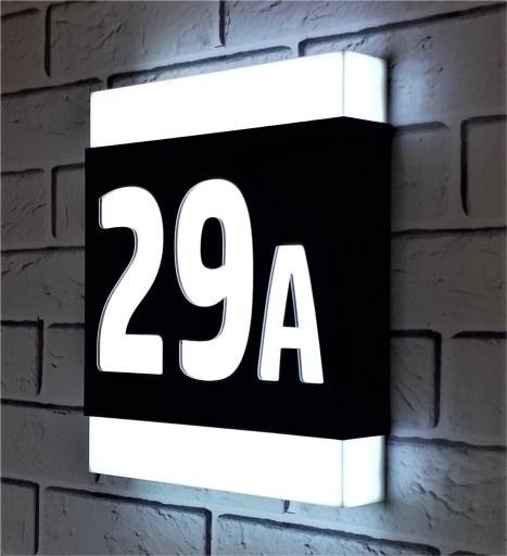 Modish Podświetlany numer domu 23 x 27 cm LED 7543973292 - Allegro.pl AD72