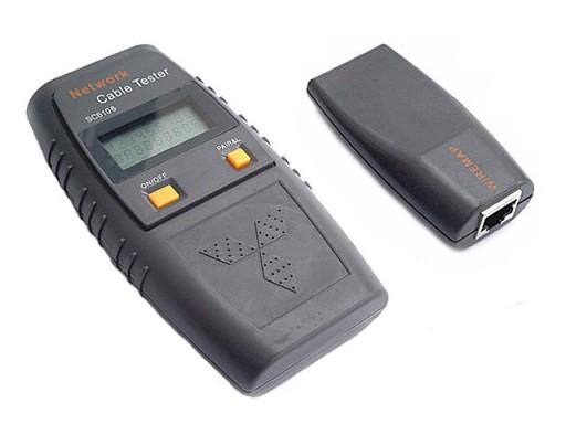 Tester sieci LAN RJ45/BNC VOICE REPORT LCD SC6106