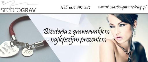 Naszyjnik serce ażur dedykacja GRAWER SREBRO 925