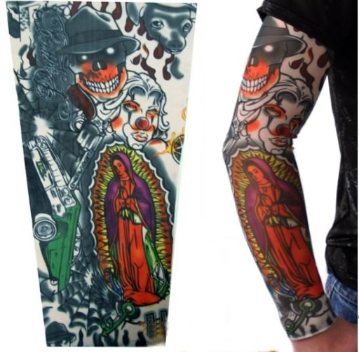 Tatuaz Rekaw Rajstopa Sleeve Reka Noga Czaszki 41 7069298973