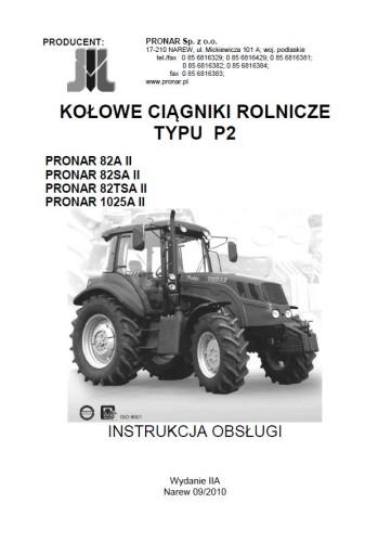Instrukcja obsługi Pronar 82A 82SA 82TSA 1025A II