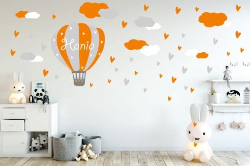 a5f6747483b3 Naklejka na ścianę balon z imieniem WZORY +Gratis 7548638257 ...