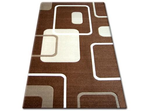 Dywany łuszczów Pilly 160x220 Kwadraty Brąz At050