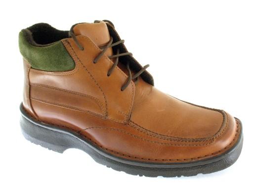 5c82c47e02715 BRĄZOWE ZIMOWE skórzane trzewiki MĘSKIE buty 45 7656433469 - Allegro.pl